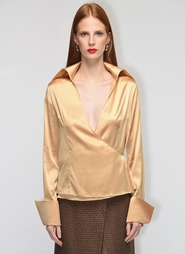 Gamze Saracoglu Gömlek Altın
